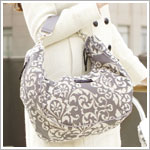 Z: Petunia Pickle Bottom *Chenille* Touring Tote - Earl Grey *Ships in July*