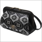 Z: Petunia Pickle Bottom CAKE Laser-Cut Leather Cameo Clutch - Blackout Fondant