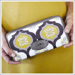 Z: Petunia Pickle Bottom CAKE Laser-Cut Leather Pocketbook - Marmalade Fondant
