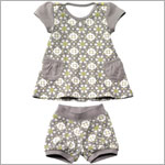 Z: Petunia Pickle Bottom Delicate Dress Set - Misted Marseille
