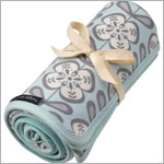 Z: Petunia Pickle Bottom Organic Stroller Blanket - Peaceful Portofino
