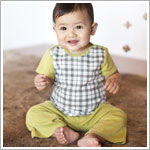 Z: Petunia Pickle Bottom Savile Row Shirt & Pant Set - Playful Plaid