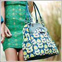 Petunia Pickle Bottom Organic Cotton Sashay Satchel - Twilight Tiger Lily