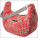 Petunia Pickle Bottom Chenille Touring Tote - Almond Raspberry