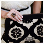 Z: Petunia Pickle Bottom CAKE Cameo Clutch - Black Forest