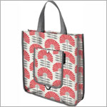 Z: Petunia Pickle Bottom Reusable Shopper Tote - Delightful Dubrovnik