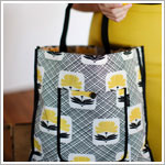 Z: Petunia Pickle Bottom Reusable Shopper Tote - Holiday in the Hague