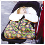Z: Petunia Pickle Bottom *Glazed* Stroller Bunting Bag - Santiago Sunset