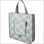 Z: Petunia Pickle Bottom Reusable Shopper Tote - Peaceful Portofino