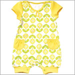 Z: Petunia Pickle Bottom Little Rouser Romper - Spot of Sunshine