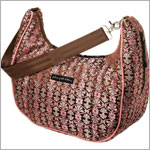 Z: Petunia Pickle Bottom Brocade Touring Tote - Persimmon Roll