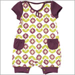 Z: Petunia Pickle Bottom Little Rouser Romper - Vibrant Violets
