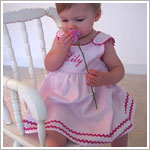 Z: Princess Linens Pink with Hot Pink Garden Princess Pique Dress