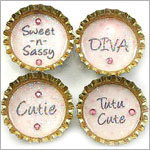 Purple Mountain Bottle Cap Magnet - Pink Polka Dot Sayings