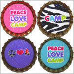 Purple Mountain New Bottle Cap Magnets - Camp