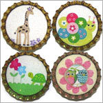 Purple Mountain New Bottle Cap Magnets - Spring Frolic