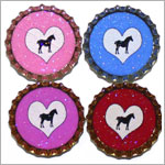 Purple Mountain New Bottle Cap Magnets - Horses