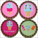 Purple Mountain New Bottle Cap Magnets - Ice Cream