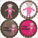 Purple Mountain New Bottle Cap Magnets - Funky Monkey