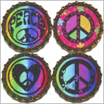 Purple Mountain New Bottle Cap Magnets - Peace Pop