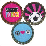 Purple Mountain New Bottle Cap Magnets - Soccer