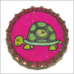 Purple Mountain New Bottle Cap Magnets - Turtle