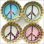 Purple Mountain Bottle Cap Magnet - Peace Pop 1