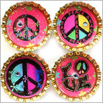 Purple Mountain Bottle Cap Magnet - Peace Baby 2