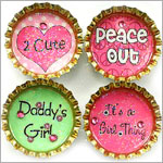 Purple Mountain Bottle Cap Magnet - Tween Sayings