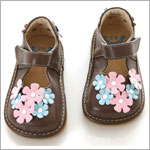 II: Rainbow Steps Brown Flower Petal Shoe *SQUEAKS*