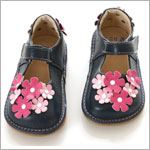 II: Rainbow Steps Navy Flower Petal Shoe *SQUEAKS*