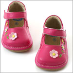 II: Rainbow Steps Hot Pink Leather Garden Shoe *SQUEAKS*