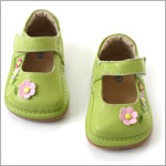 II: Rainbow Steps Lime Leather Garden Shoe *SQUEAKS*