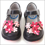 II: Rainbow Steps Navy Leather Flower Shoe