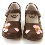 II: Rainbow Steps Brown Flower Mary Jane Petal Shoe