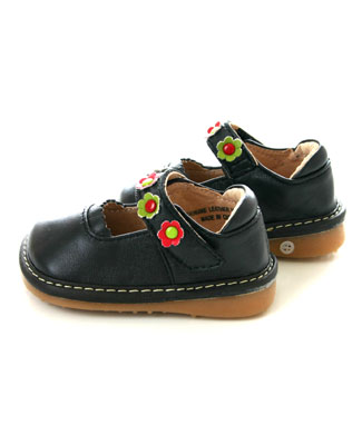ii rainbow steps navy leather shoes squeak