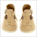 R: Maria Francesca Beige Soft Leather Booties With Bow Details