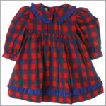R: Wee Clancy Red, Blue And Green Plaid Dress