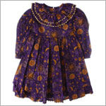 R: Wee Clancy Purple Moon Print Ruffles Dress