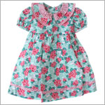 R: Wee  Clancy Pink And Green Pansy Print Dress