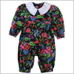 R: Baby Cary Black Floral Print Romper