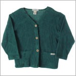 R: Earthlings Organic Green Button Up Cardigan