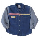 R: Petit Boy *24 Hours Service* L/S Denim With Gingham Shirt