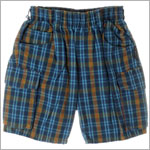 R: Petit Boy Blue Plaid Shorts