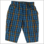 R: Petit Boy Blue Plaid Pants