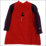 3T (36m) R: Alphabet Plum L/S Top With Red Polyester Jumper