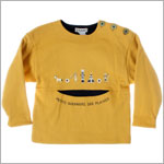 R: Alphabet Yellow And Navy L/S Warriors Shirt