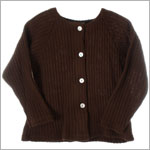 R: Alphabet Brown L/S  Sweater