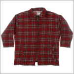R: Alphabet Red Plaid L/S Zip up Lightweight Jacket With Pockets
