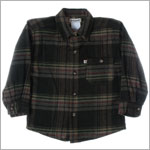R: Alphabet Green Plaid L/S Top